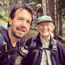 Gini works for National Forest Service, hiking and reporting on conditions